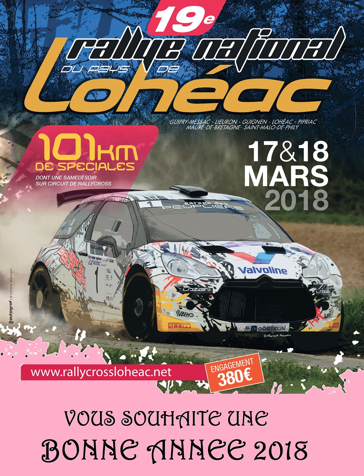 bretagne loire rallye du pays de loheac 2018 17 18 mars n rallyes r gionaux et nationaux. Black Bedroom Furniture Sets. Home Design Ideas
