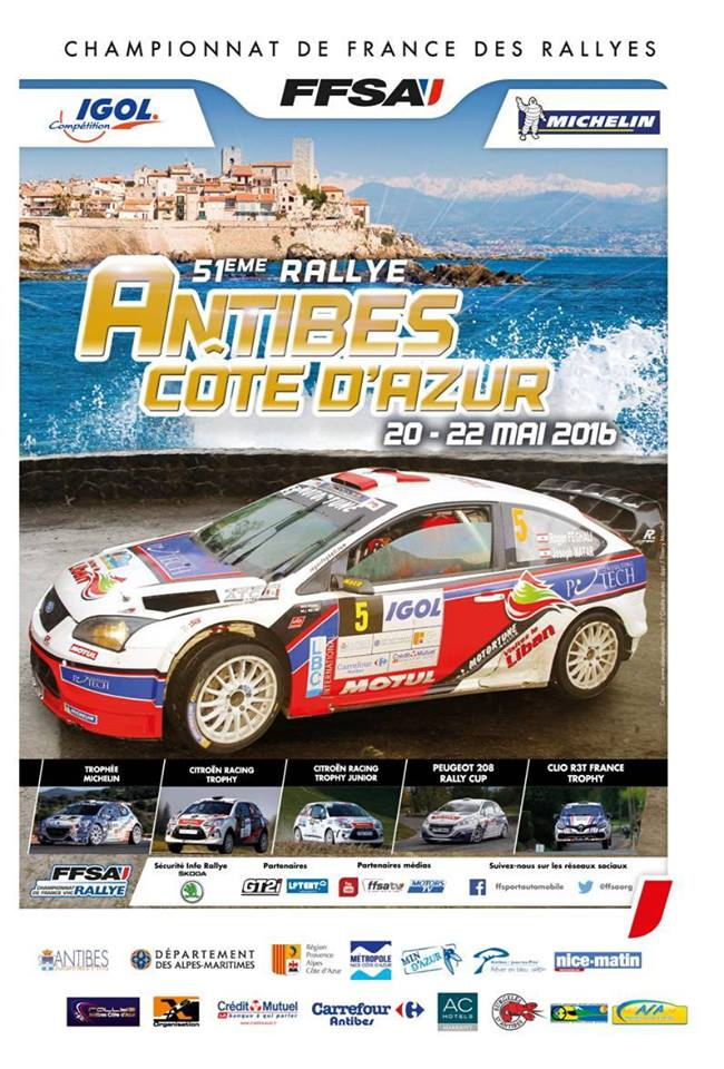 rallye d 39 antibes c te d 39 azur 2016 20 22 mai cfa championnat de france forum rallye. Black Bedroom Furniture Sets. Home Design Ideas