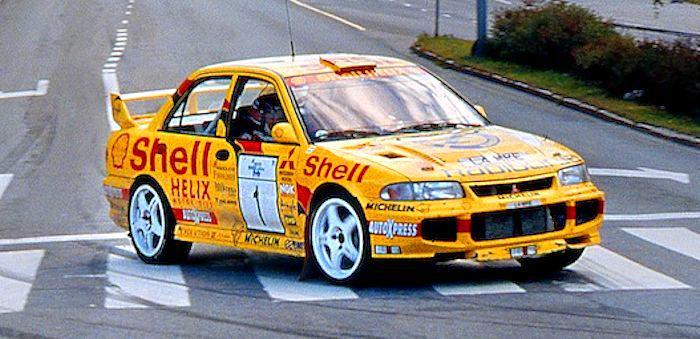 Tommi Mäkinen Seppo Harjanne, 1995 1000 Lakes Rally, Group A8 Mitsubishi Lancer Evo III. Overall winners by Rainer Nyberg @RainerNyberg1.jpg