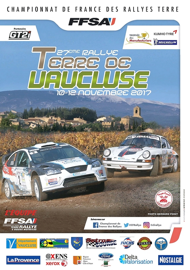 rallye terre de vaucluse 2017 10 12 novembre cft championnat de france forum rallye. Black Bedroom Furniture Sets. Home Design Ideas